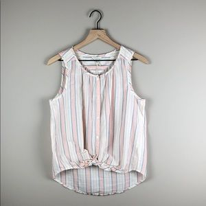 NWT Lucky Brand Sleeveless Striped Top (Small)